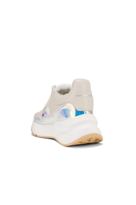 Image 3 of Alexander McQueen Embellished Sneakers in Cream & Pink