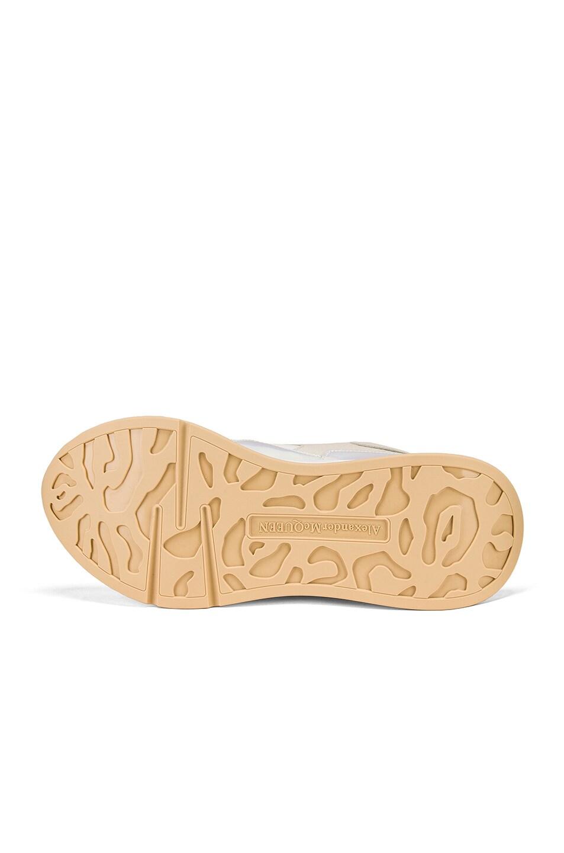 Image 5 of Alexander McQueen Embellished Sneakers in Cream & Pink