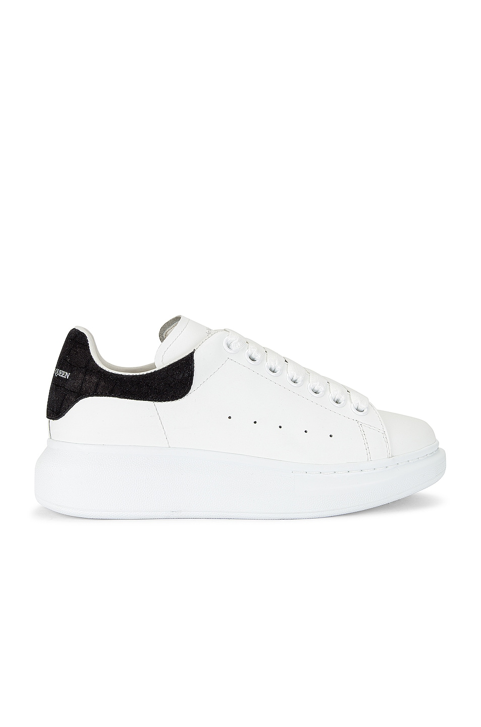 Image 1 of Alexander McQueen Leather & Rubber Sneakers in White & Black