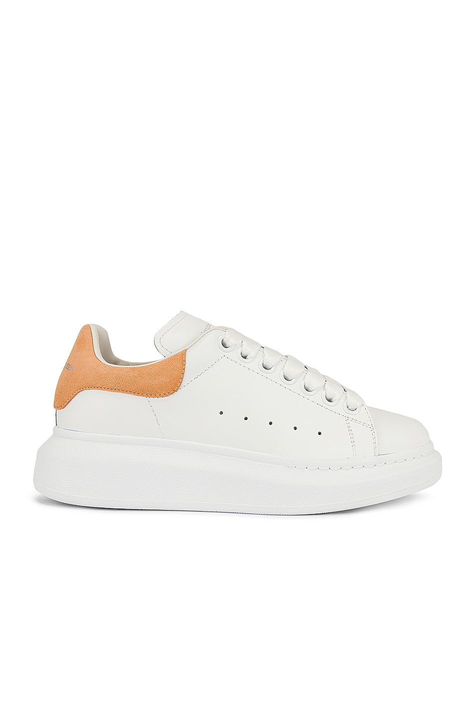 Image 1 of Alexander McQueen Leather & Rubber Sneakers in White & Shell