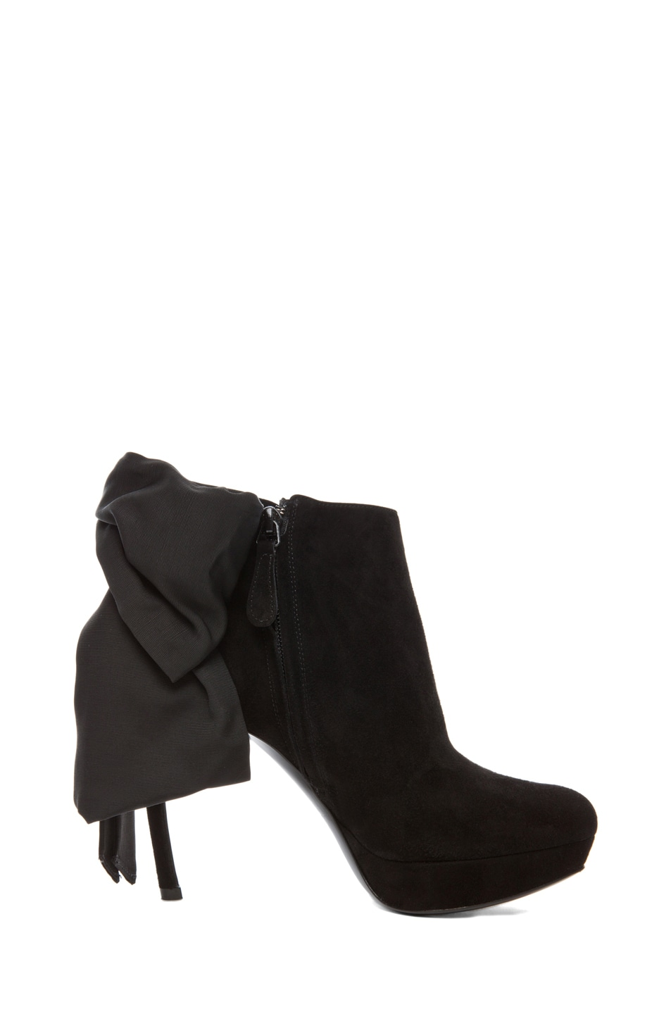 Image 5 of Alexander McQueen Bow Bootie in Black