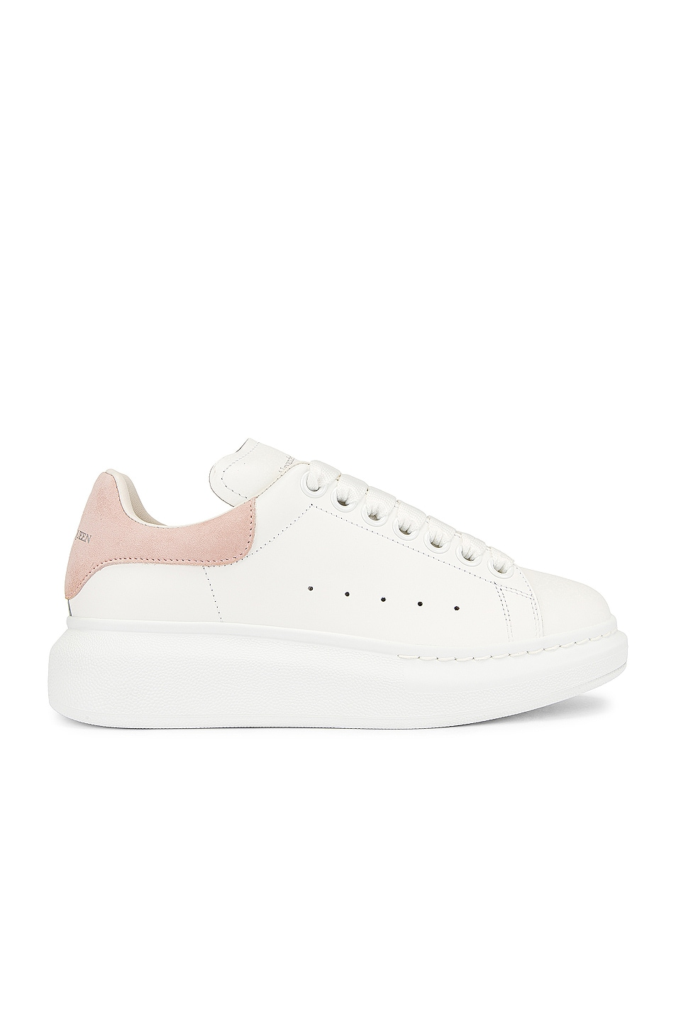 Image 1 of Alexander McQueen Oversized Sneakers in White & Patchou