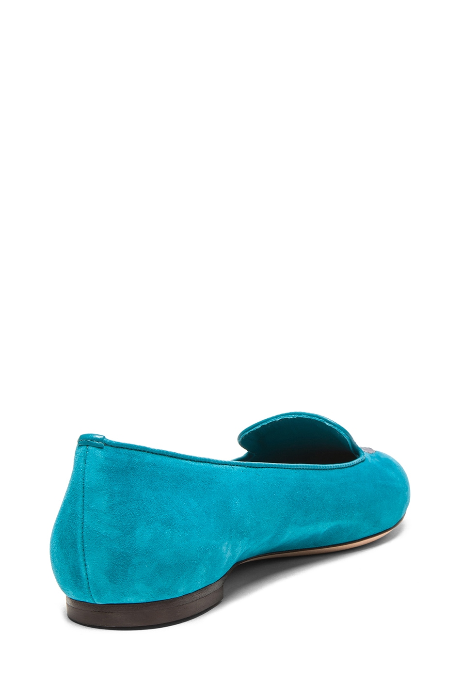 Image 3 of Alexander McQueen Skull Suede Slippers in Light Petrol
