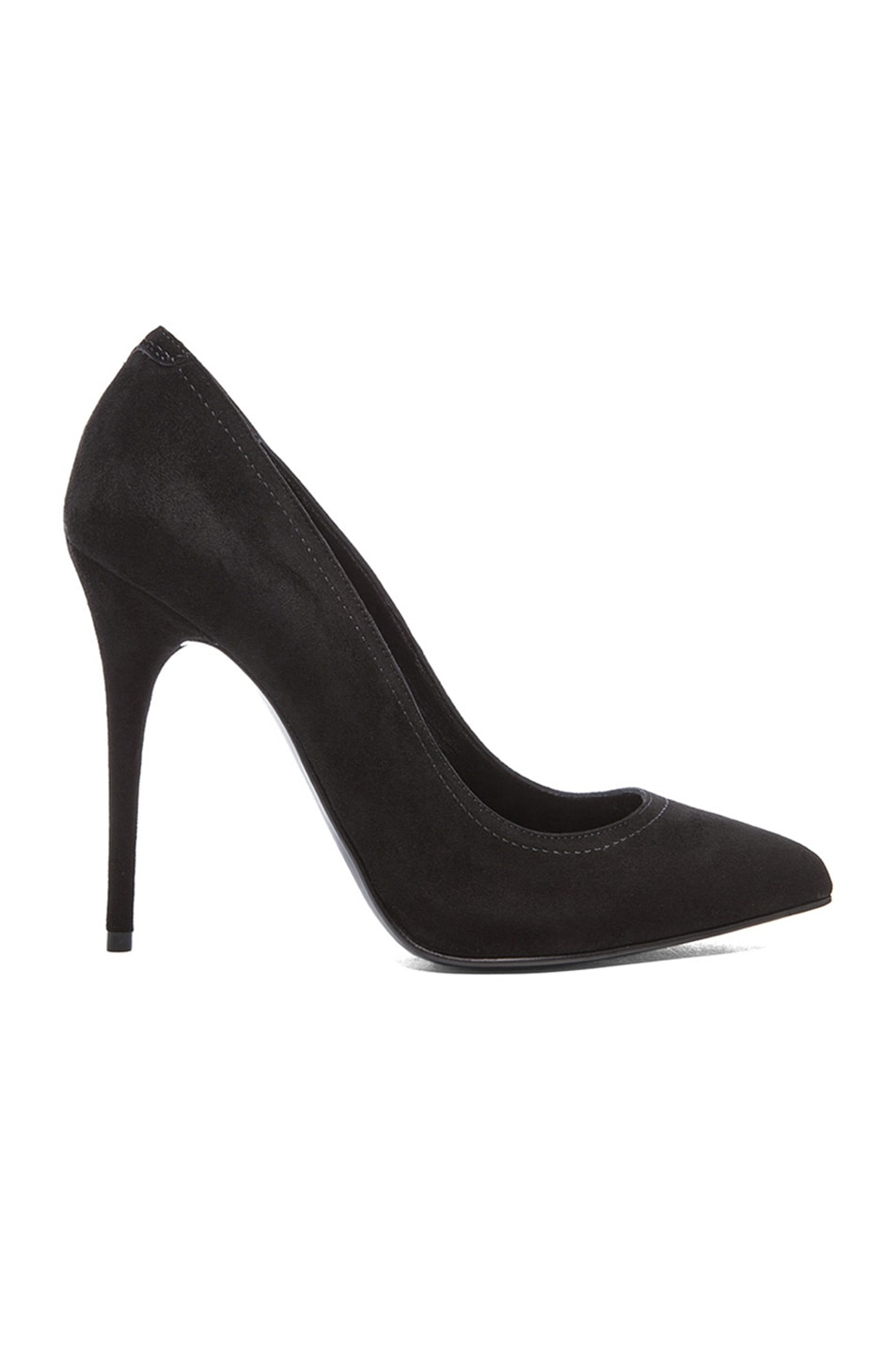 Image 1 of Alexander McQueen Pointy Suede Pumps in Black