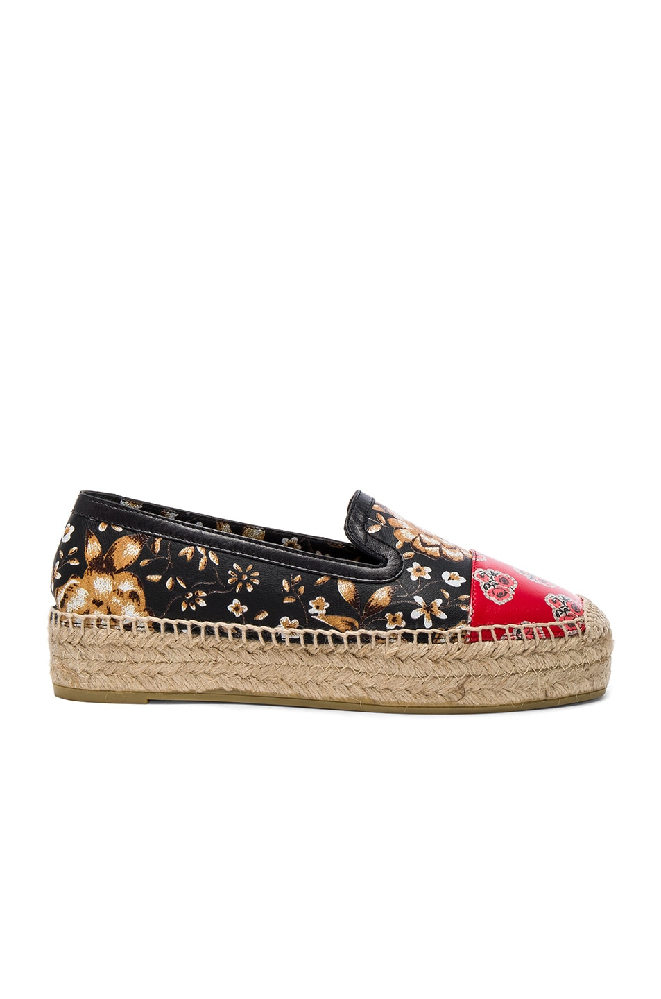 Image 1 of Alexander McQueen Leather Espadrilles in Multi