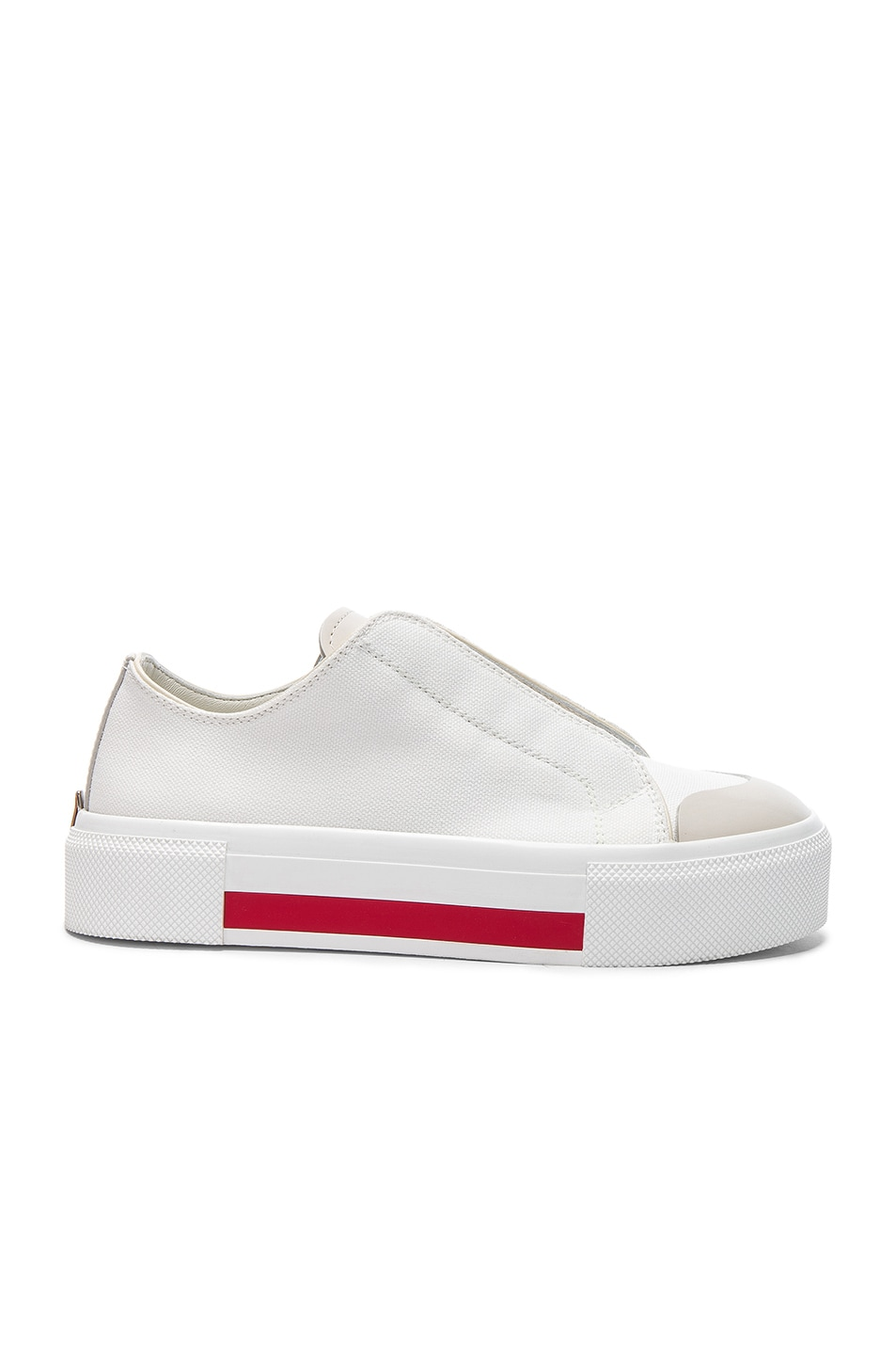 Image 1 of Alexander McQueen Canvas Platform Slide Sneakers in Ivory