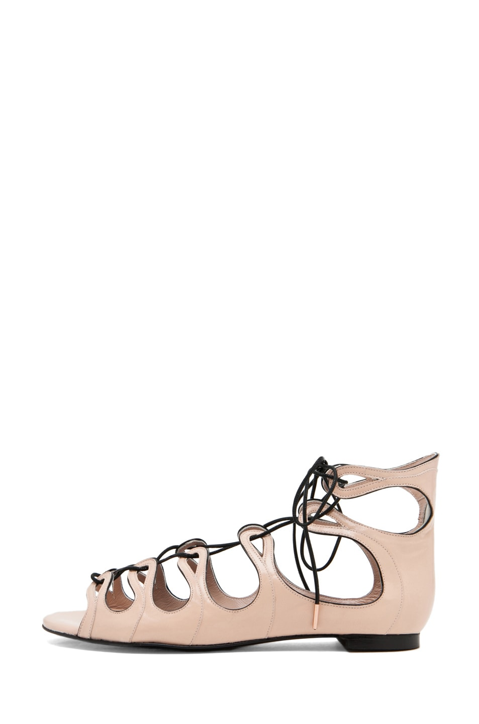 Image 1 of Alexander McQueen Lace Up Sandal in Saraband/Black