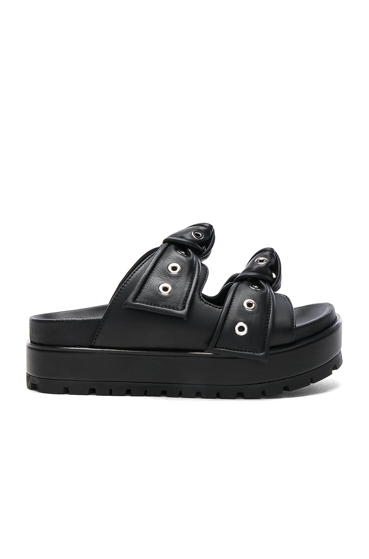 Image 1 of Alexander McQueen Leather Sandals in Black