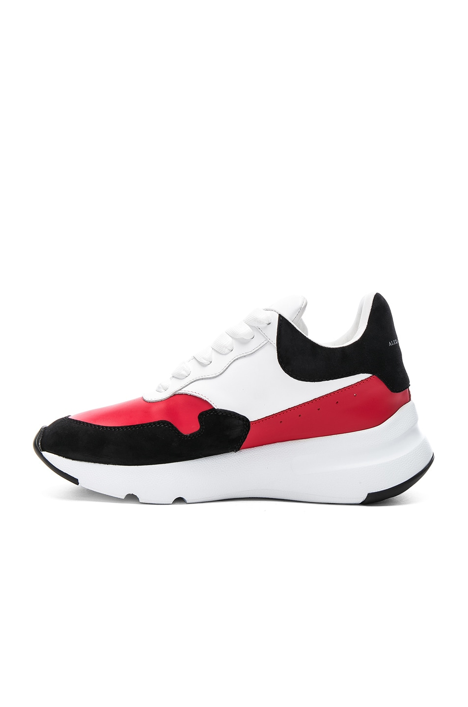 Alexander McQueen Leather & Suede Lace Up Sneakers in Lust & Wiki For Sale Fast Delivery fmCHpUm