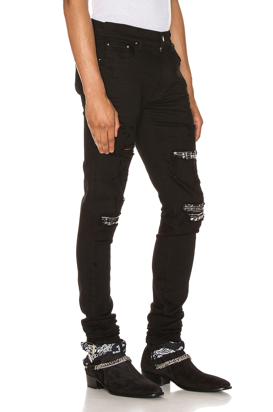 Image 2 of Amiri Music Note Patch Jean in Black