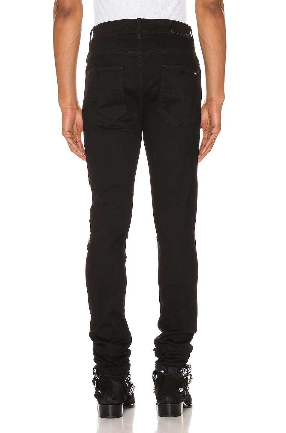 Image 3 of Amiri Music Note Patch Jean in Black