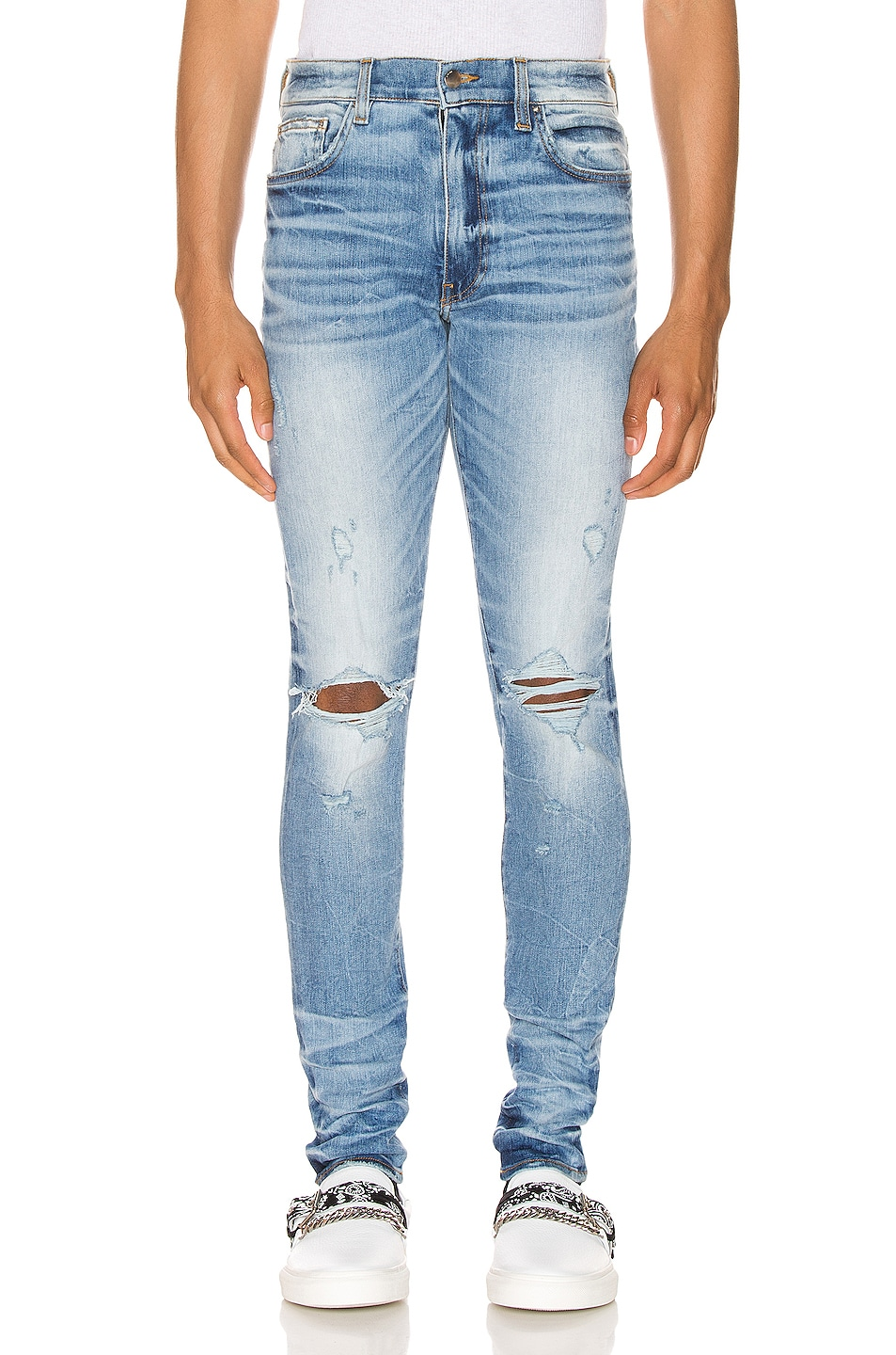 Image 1 of Amiri Thrasher Minimal Jean in Medium Crafted Indigo