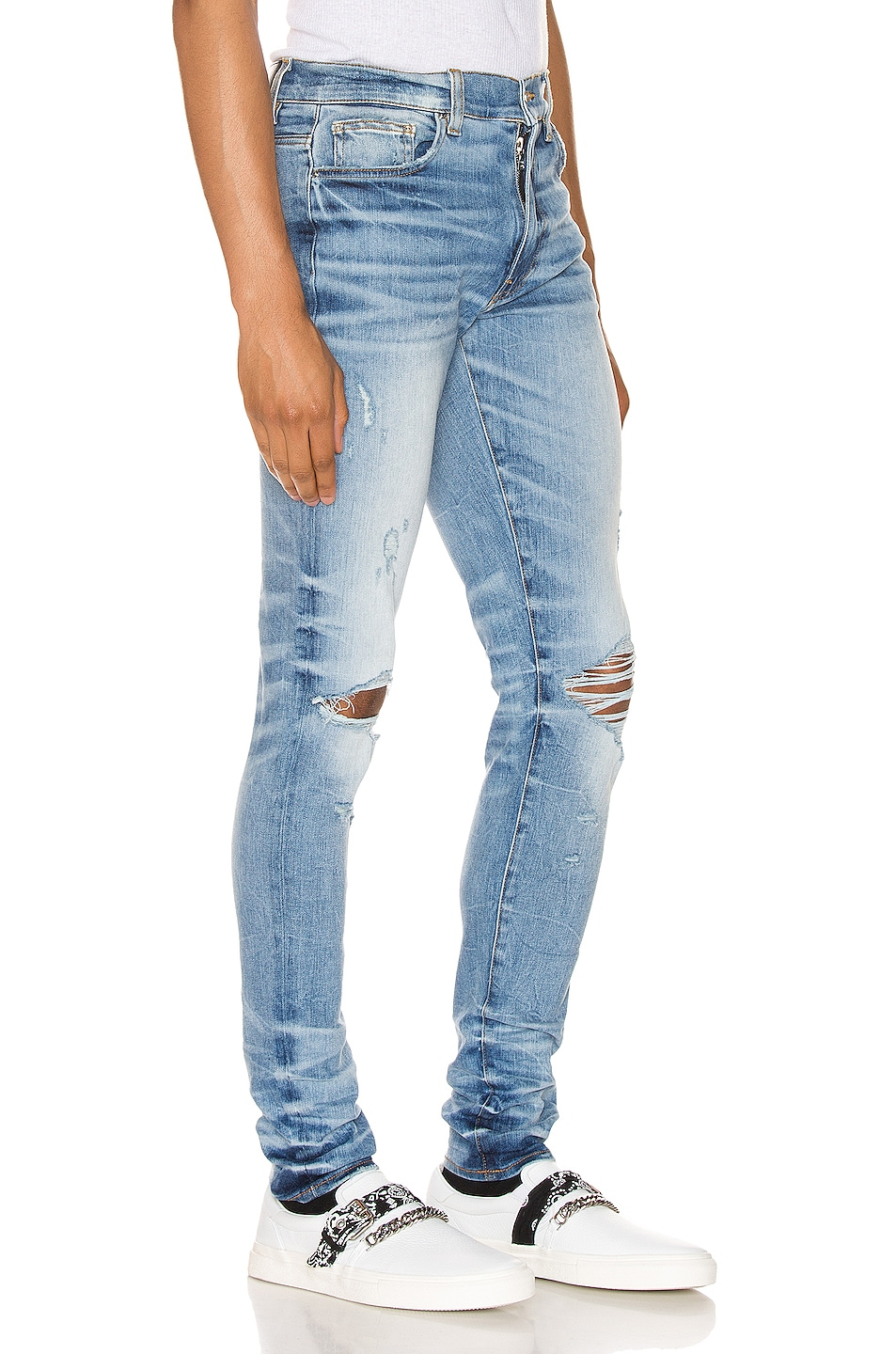 Image 2 of Amiri Thrasher Minimal Jean in Medium Crafted Indigo