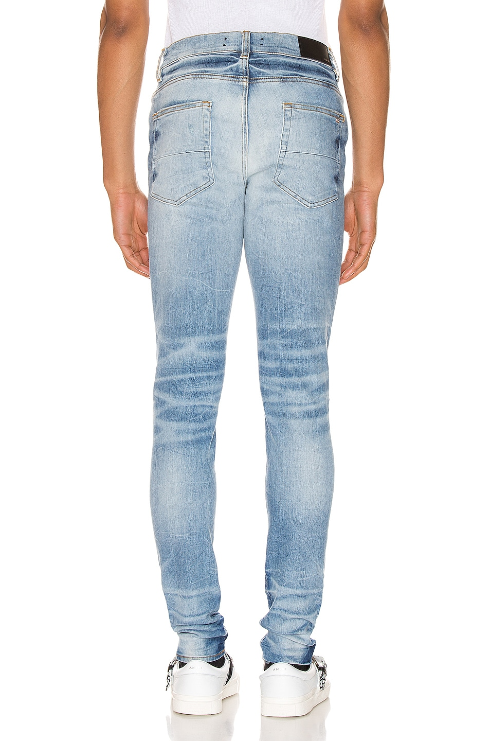 Image 3 of Amiri Thrasher Minimal Jean in Medium Crafted Indigo