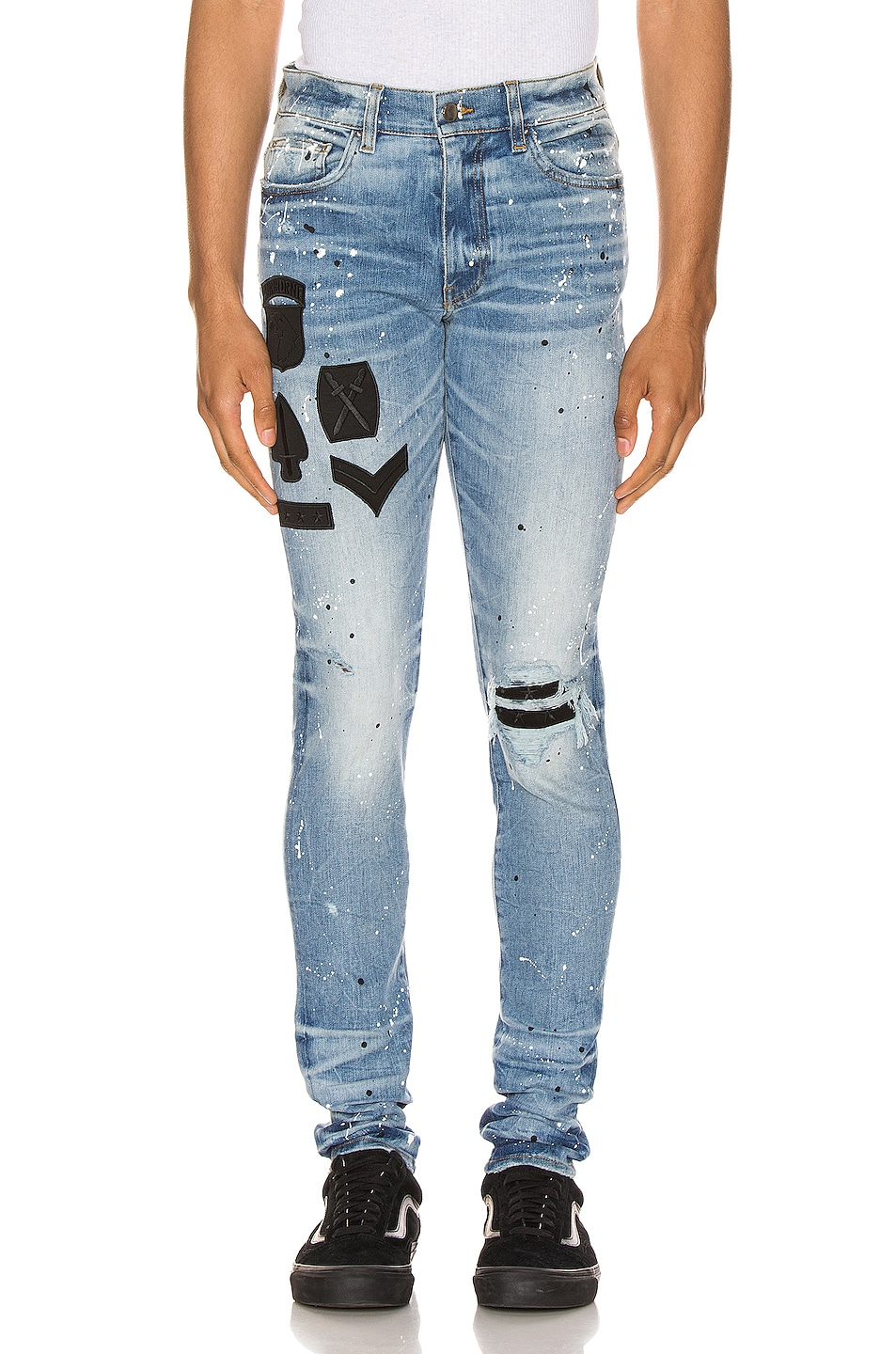 Image 1 of Amiri Painted Military Patch Jean in Medium Crafted Indigo