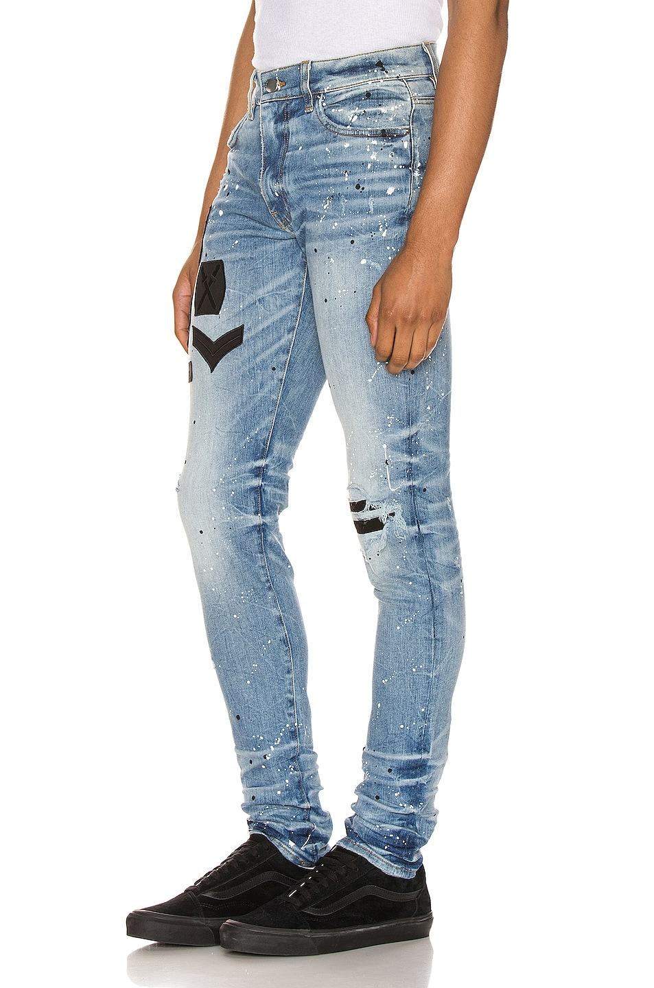 Image 3 of Amiri Painted Military Patch Jean in Medium Crafted Indigo