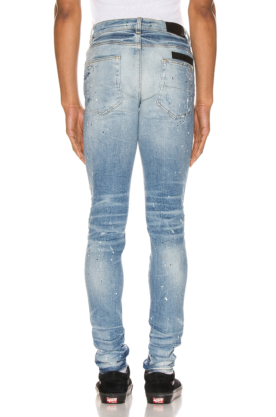 Image 4 of Amiri Painted Military Patch Jean in Medium Crafted Indigo