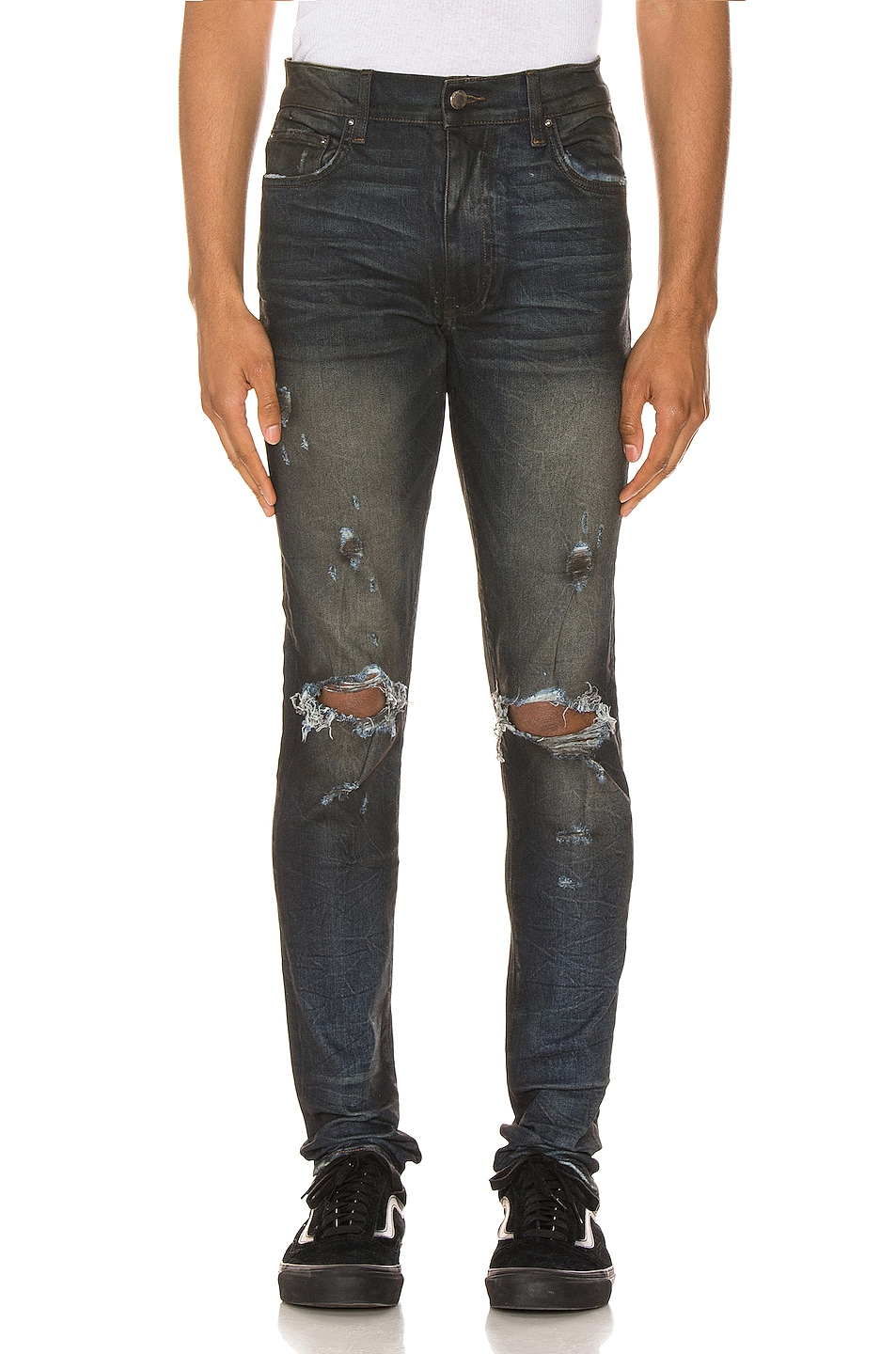 Image 1 of Amiri Thrasher Minimal Jean in Rough Indigo