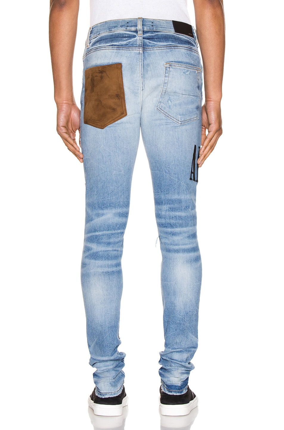 Image 4 of Amiri Grunge Patch Jean in Medium Crafted Indigo