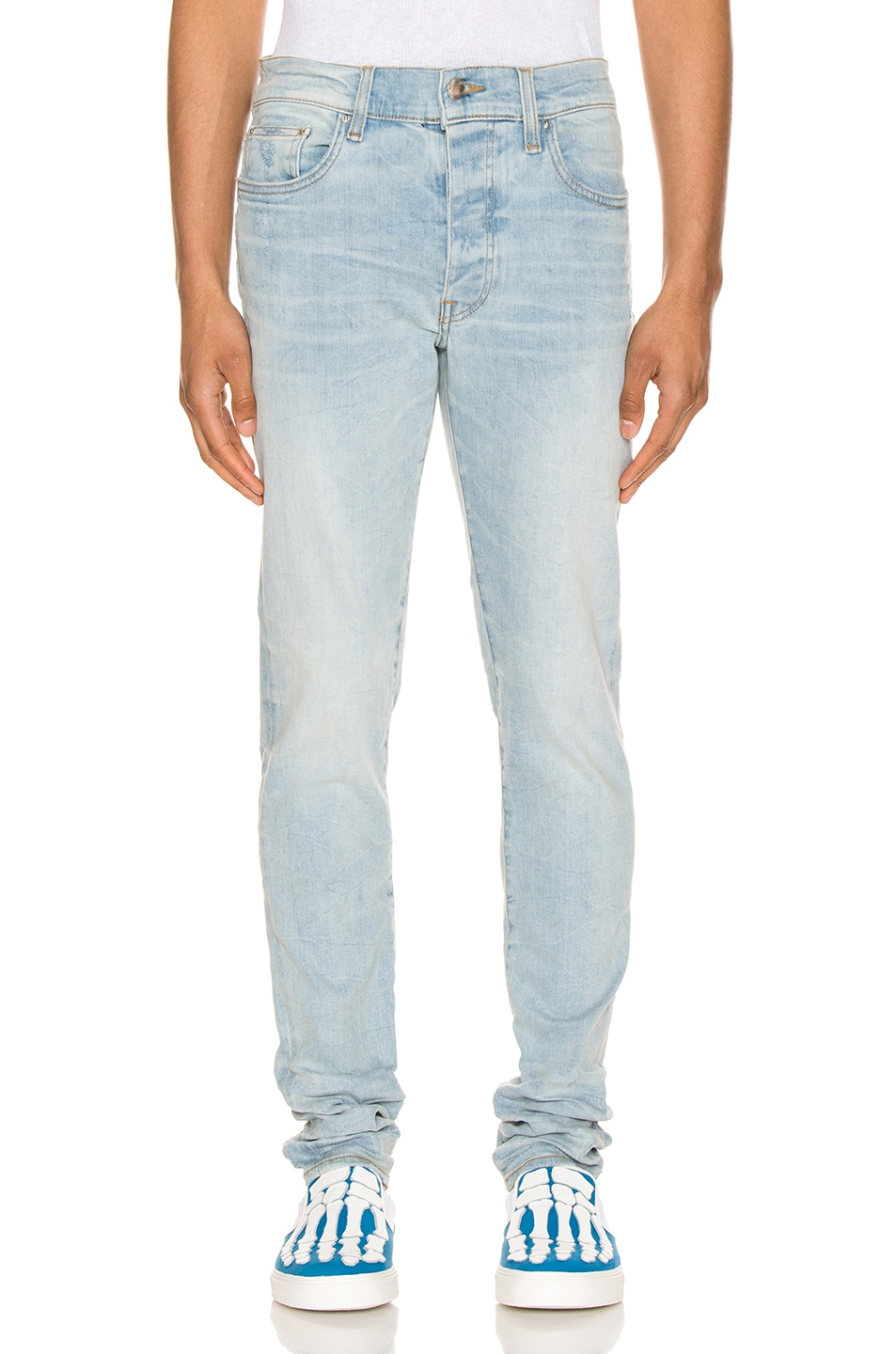 Image 1 of Amiri Stack Jean in Light Crafted Indigo