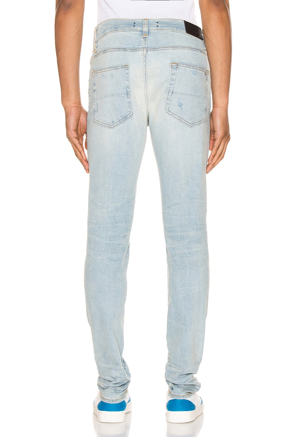Image 3 of Amiri Stack Jean in Light Crafted Indigo