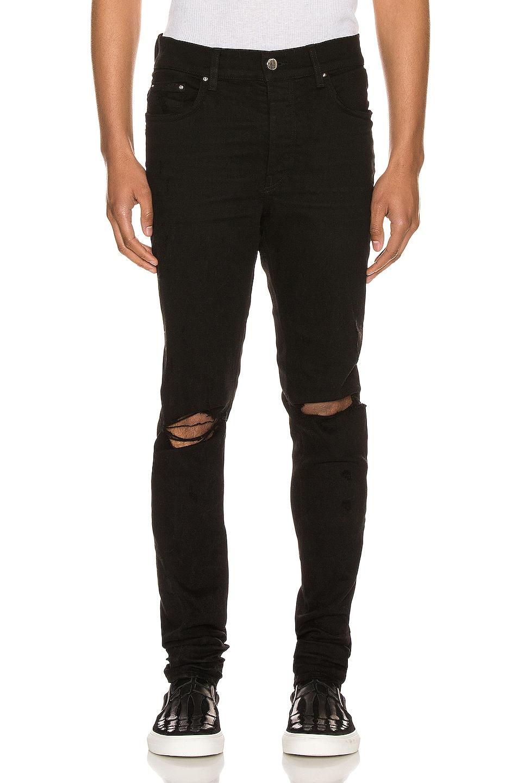 Image 1 of Amiri Slash Jean in Black