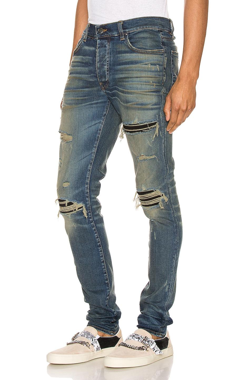 Image 3 of Amiri Suede MX1 Jean in Deep Indigo & Black