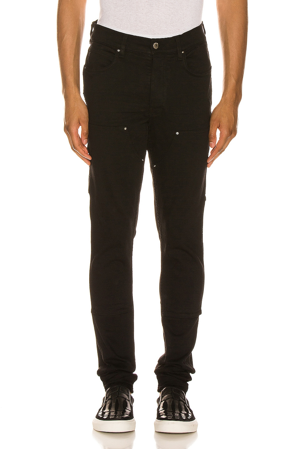Image 1 of Amiri Workman Skinny Pant in Black