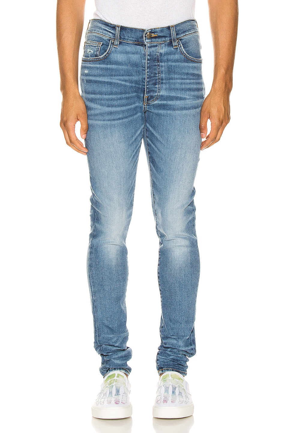 Image 1 of Amiri Stack Jean in Rosebowl