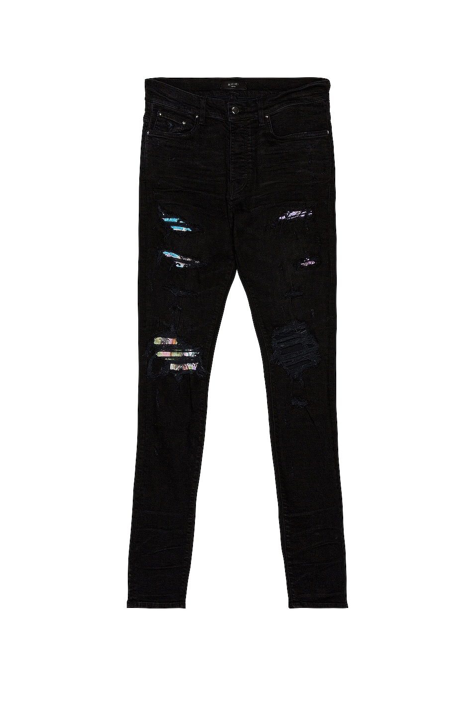 Image 1 of Amiri Hawaiian Patch Jean in Aged Black