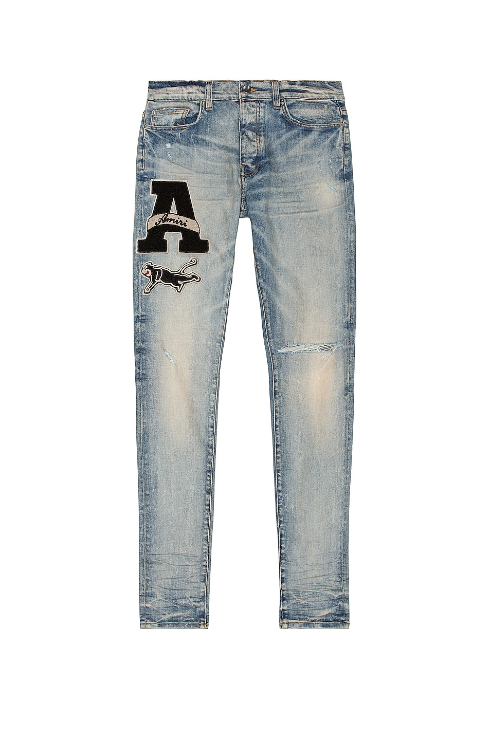 Image 1 of Amiri Varsity Patch Jean in Clay Indigo