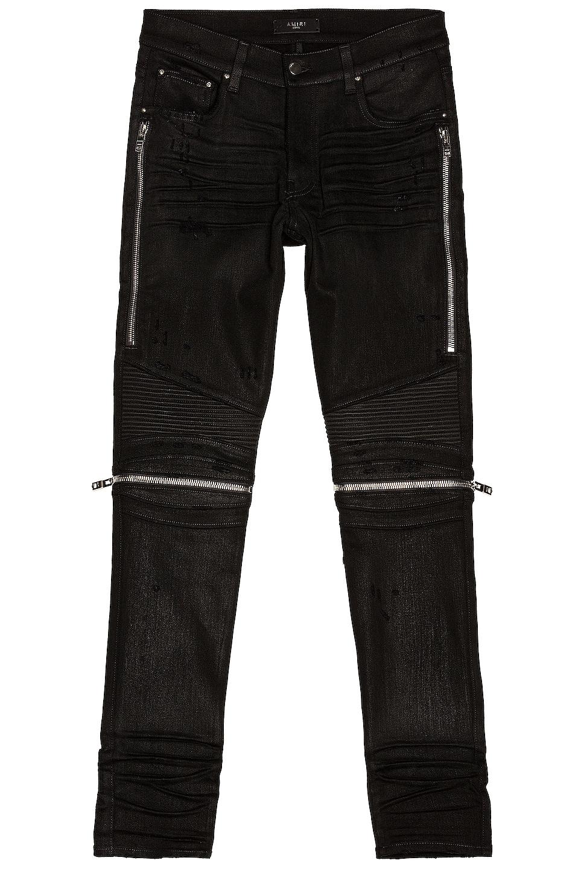 Image 1 of Amiri MX2 Waxed Jean in Black