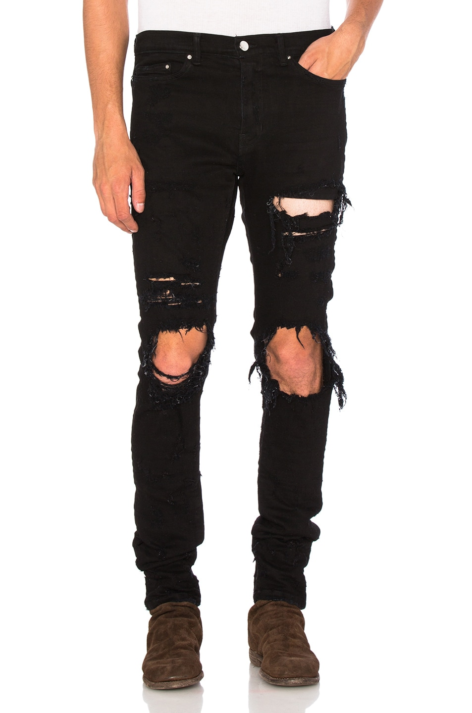 Image 1 of Amiri Shotgun Jean in Black