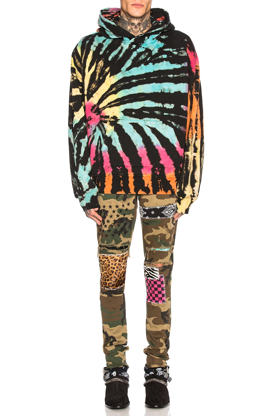 Image 4 of Amiri Art Patch Jeans in Camo