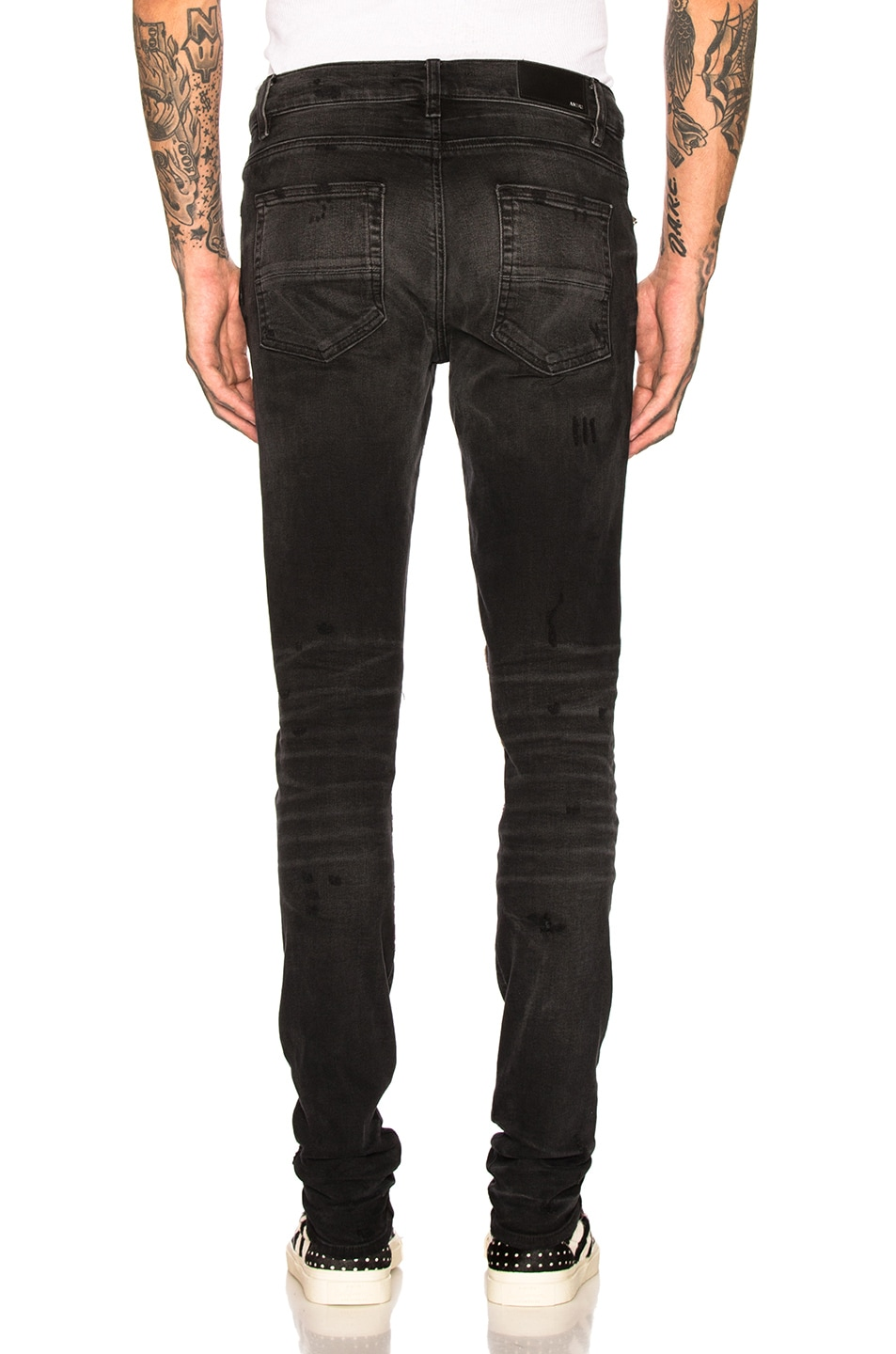 Image 4 of Amiri Art Patch Jeans in Aged Black