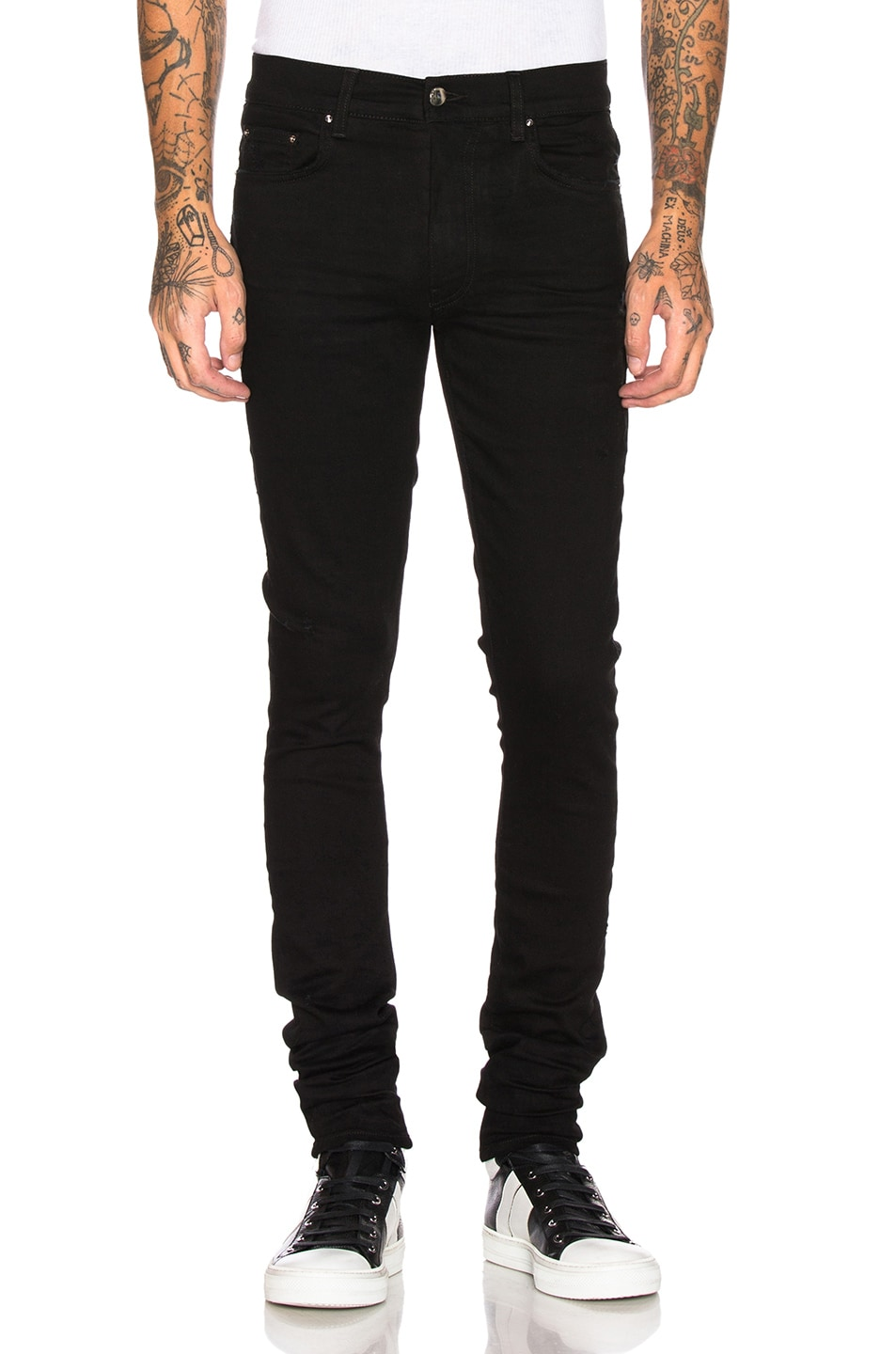 Image 1 of Amiri Stack Jean in Black