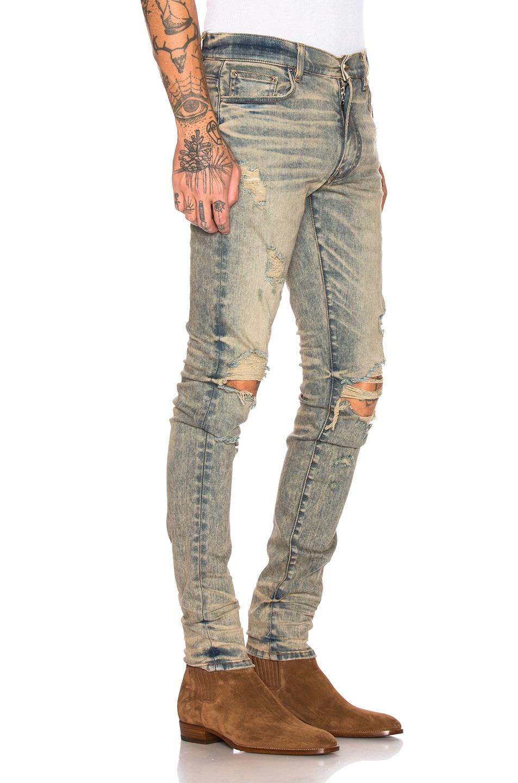 Image 2 of Amiri Thrasher Jean in Dirty Indigo
