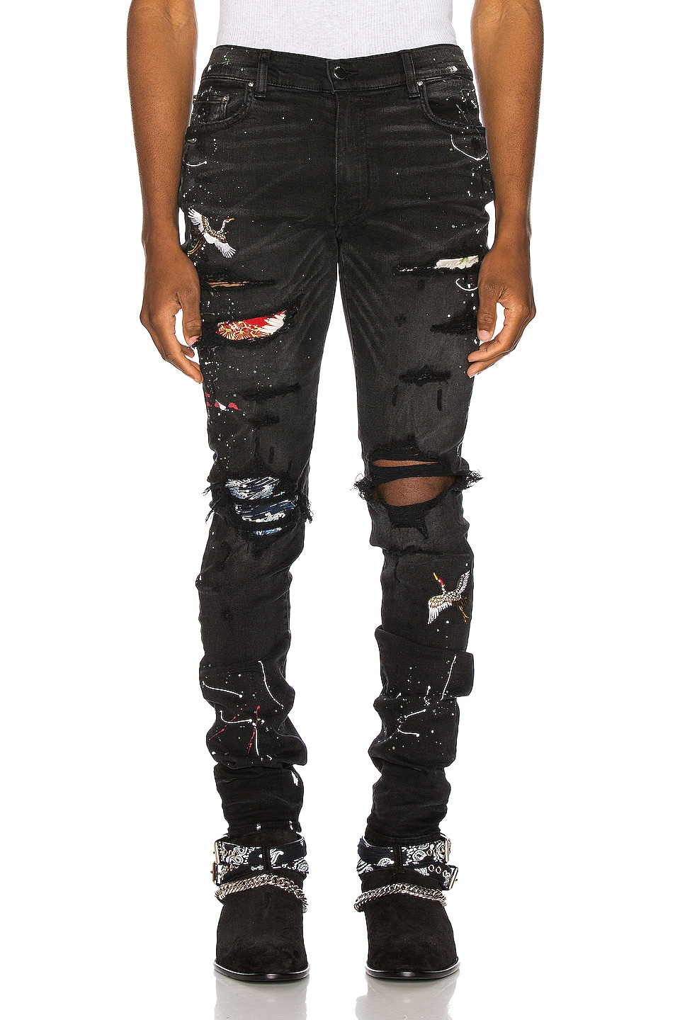 Image 1 of Amiri Art Patch Jean in Aged Black