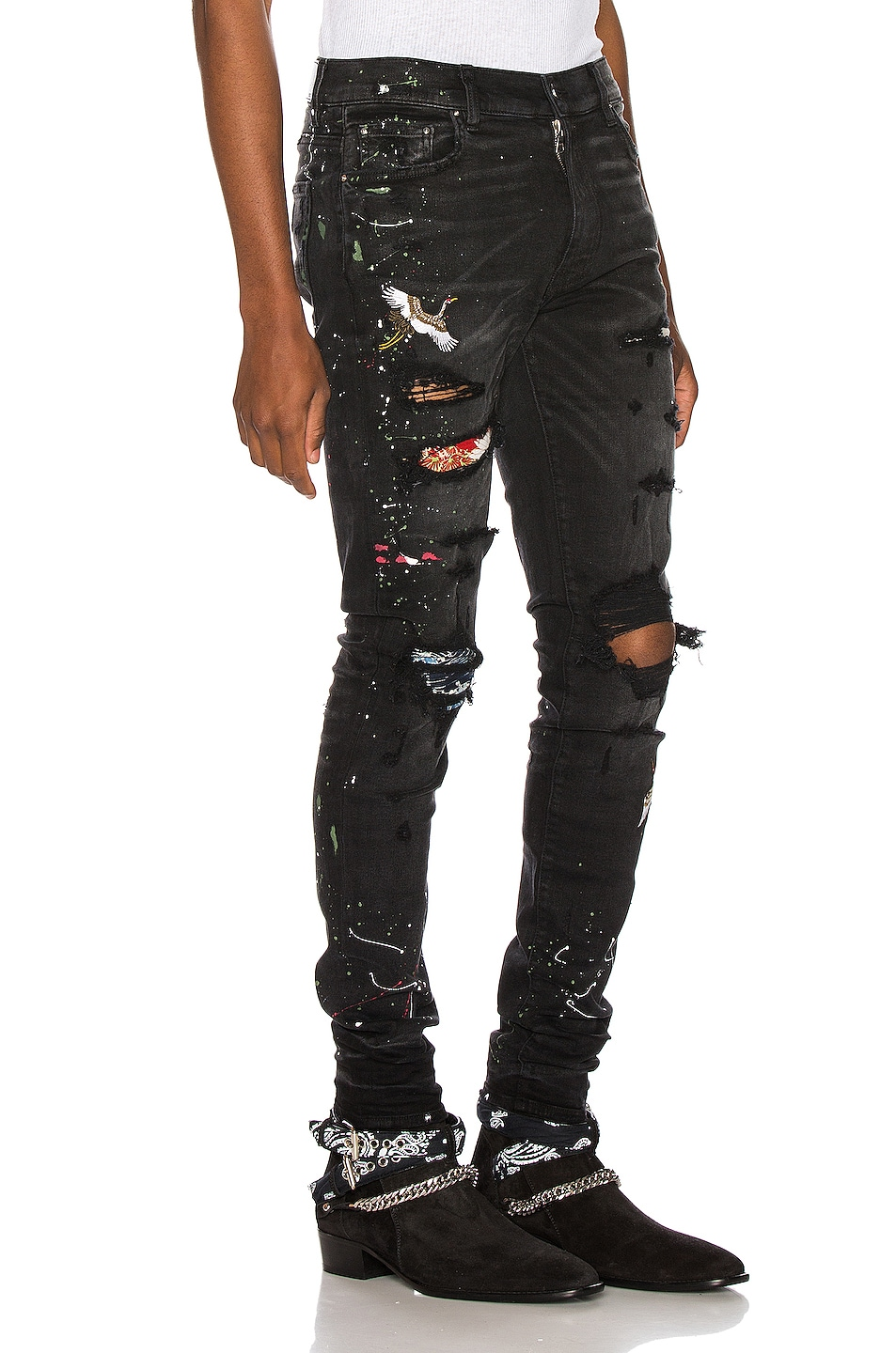Image 2 of Amiri Art Patch Jean in Aged Black