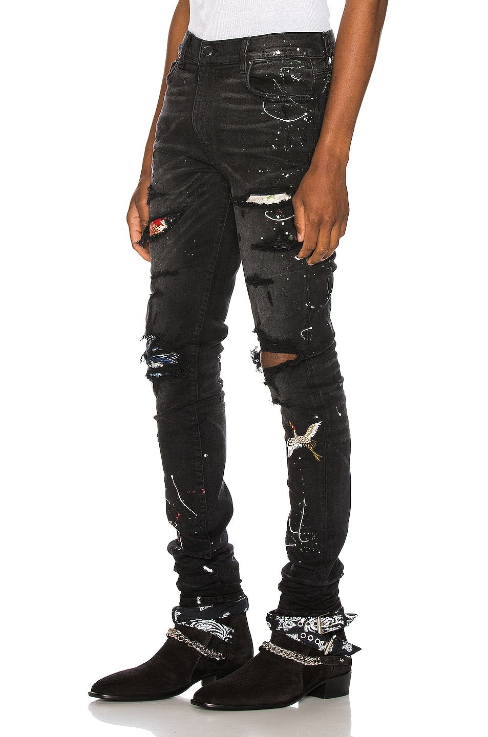 Image 3 of Amiri Art Patch Jean in Aged Black