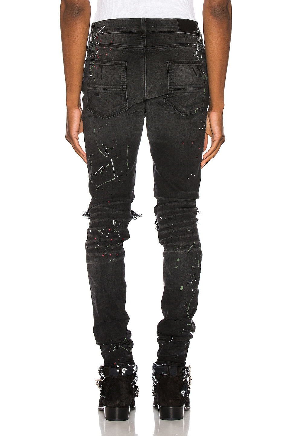 Image 4 of Amiri Art Patch Jean in Aged Black