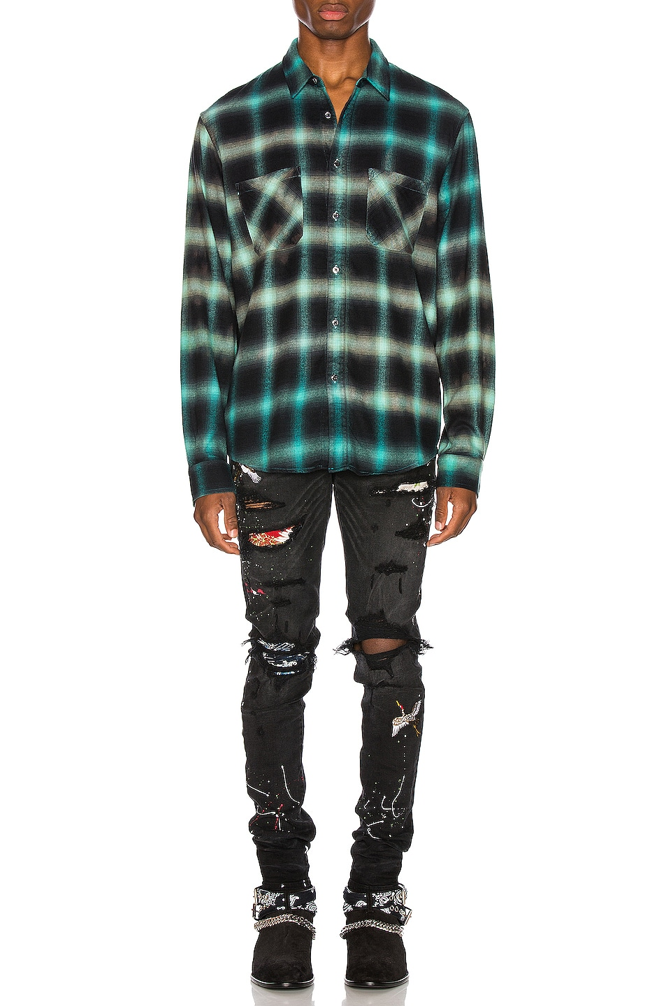Image 5 of Amiri Art Patch Jean in Aged Black