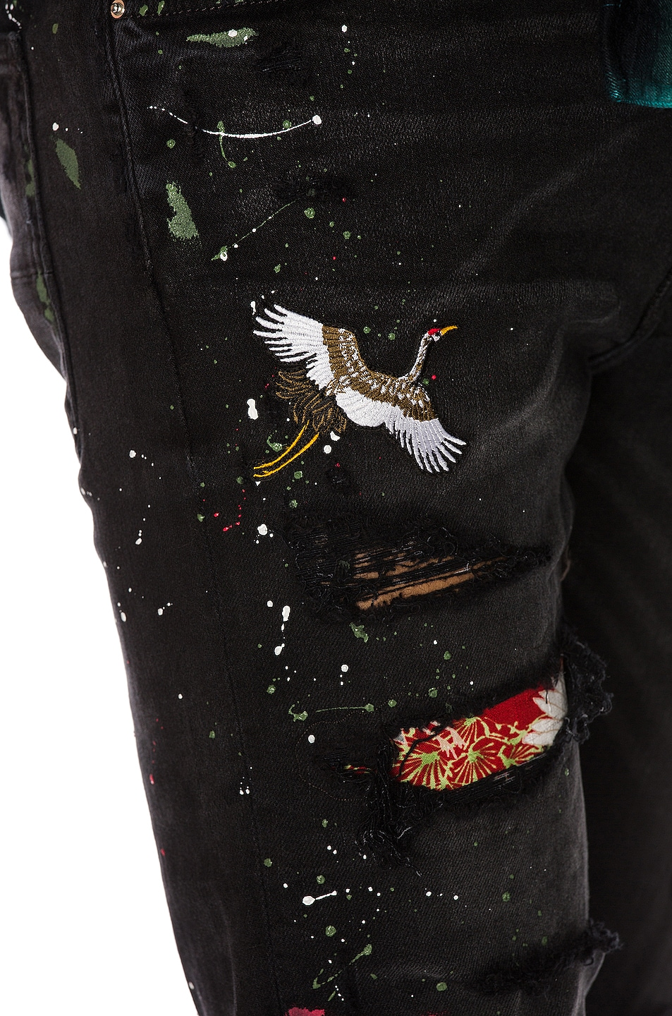 Image 6 of Amiri Art Patch Jean in Aged Black
