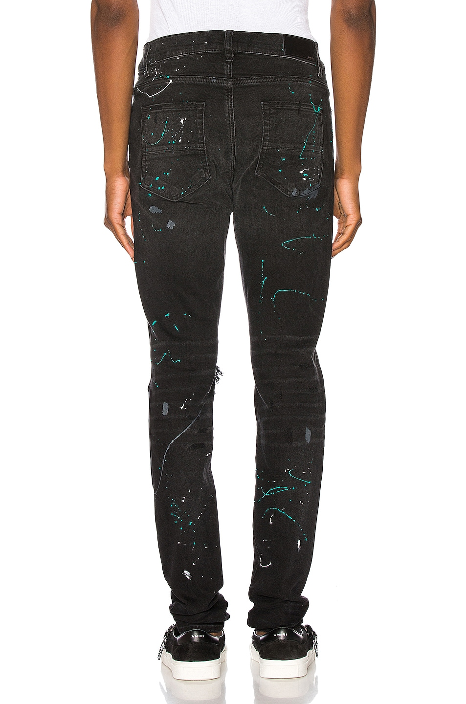 Image 3 of Amiri Paint Splatter Jean in Aged Black