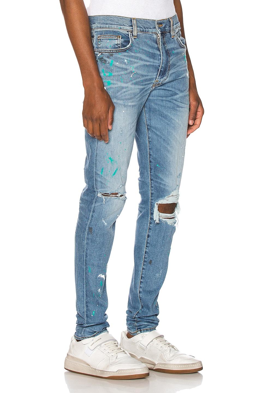 Image 2 of Amiri Paint Splatter Jean in Rosebowl Blue