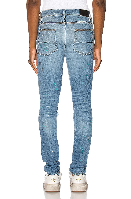 Image 3 of Amiri Paint Splatter Jean in Rosebowl Blue