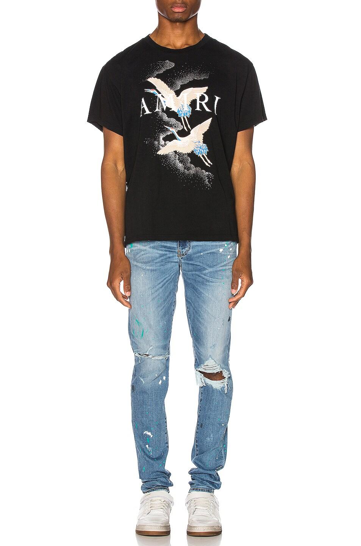 Image 4 of Amiri Paint Splatter Jean in Rosebowl Blue