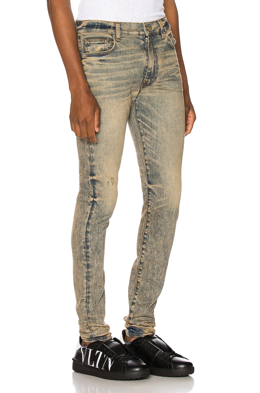 Image 2 of Amiri Stack Jean in Dirty Indigo