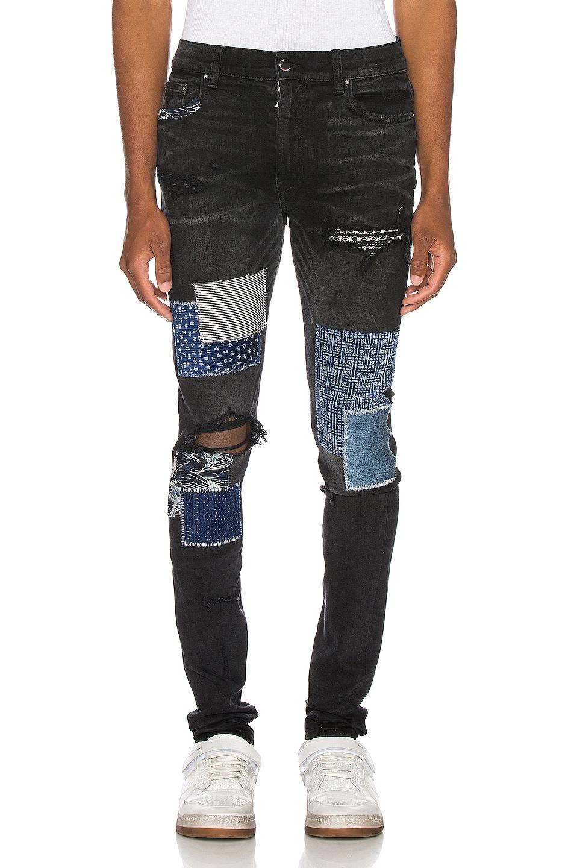 Image 1 of Amiri Japanese Repair Jean in Aged Black
