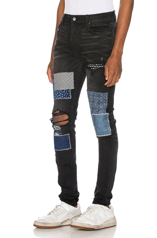 Image 3 of Amiri Japanese Repair Jean in Aged Black